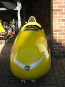 Front view of a Quest velomobile