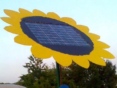 Sunflowers And Solar Panels Solar Powered Festival Pod Pads