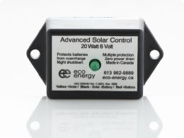 asc20w 6v solar charge regulator with led