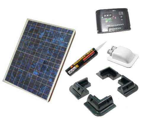 60w Motorhome Solar Panel Kits Glue Mounts Motorhome