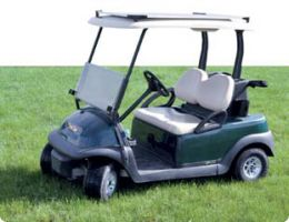 Golf Cart Fitted With Solar Power Kit