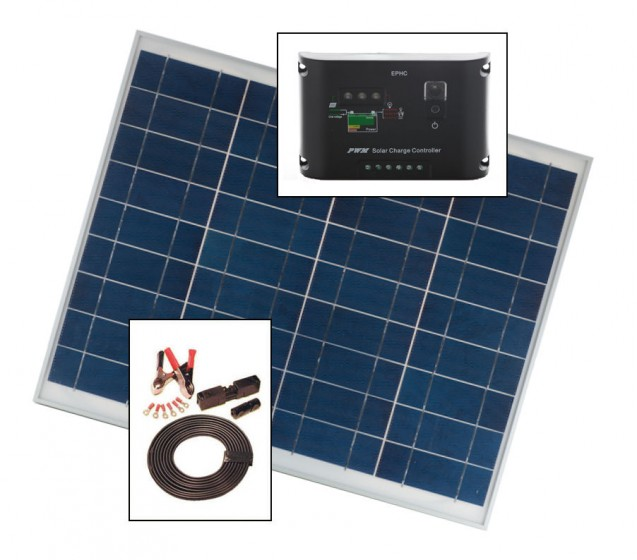 30w Solar Diy Kit With Panel Cables Amp Controller For