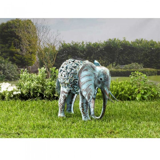 Metal Silhouette Elephant Select Solar The Solar