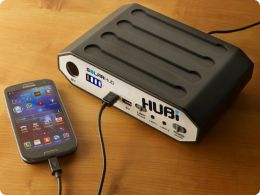 hubi charging mobile phone