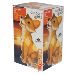 solar light fox flower co boxed 926964