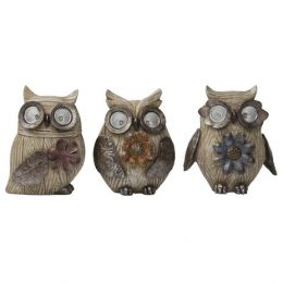 565538 3ass wood look owls
