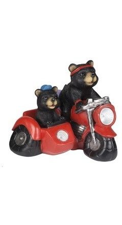 907017 bear and cub on motorbike