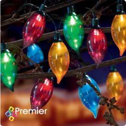 Multi-Coloured Large LED Flame Party Lights - Multi-Function - 10pcs