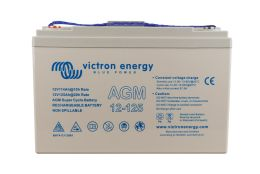 12V 125Ah AGM Super Cycle Battery (front)