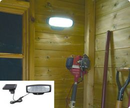 solar powered shed light with 10 leds and remote control
