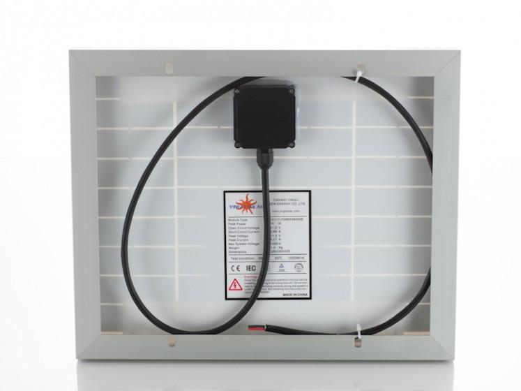 10W Yingli Solar polycrystalline panel06001JP01-rear