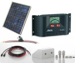 motorhome solar panel kit with display